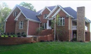 Greeneville Custom Home Brick Exterior