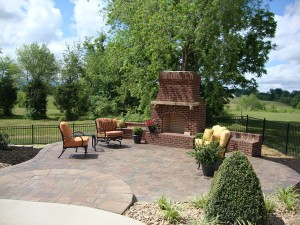 Greeneville Outdoor Living Patio Area With Fireplace